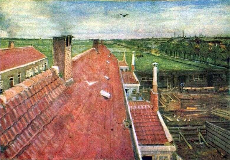 Описание картины Винсента Виллема ван Гога «Крыши. Вид из мастерской»&nbsp