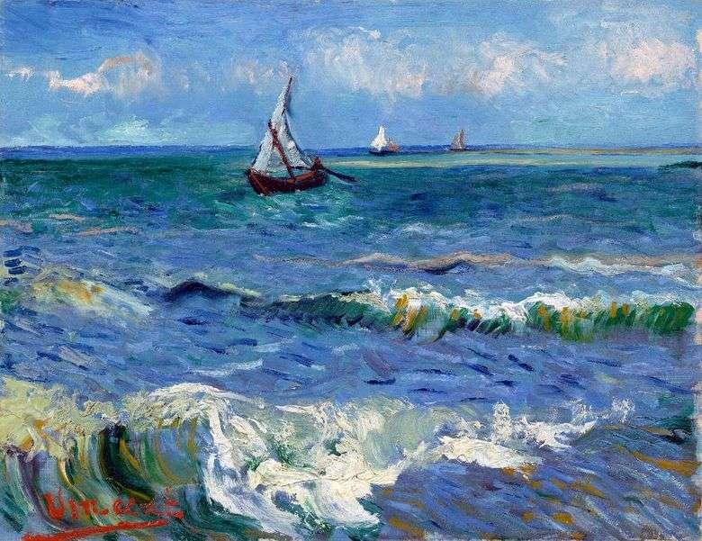 Описание картины Винсента Виллема ван Гога «Морской пейзаж в Сен Мари»