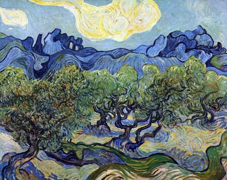 Описание картины Винсента Виллема ван Гога «Пейзаж с оливами»&nbsp