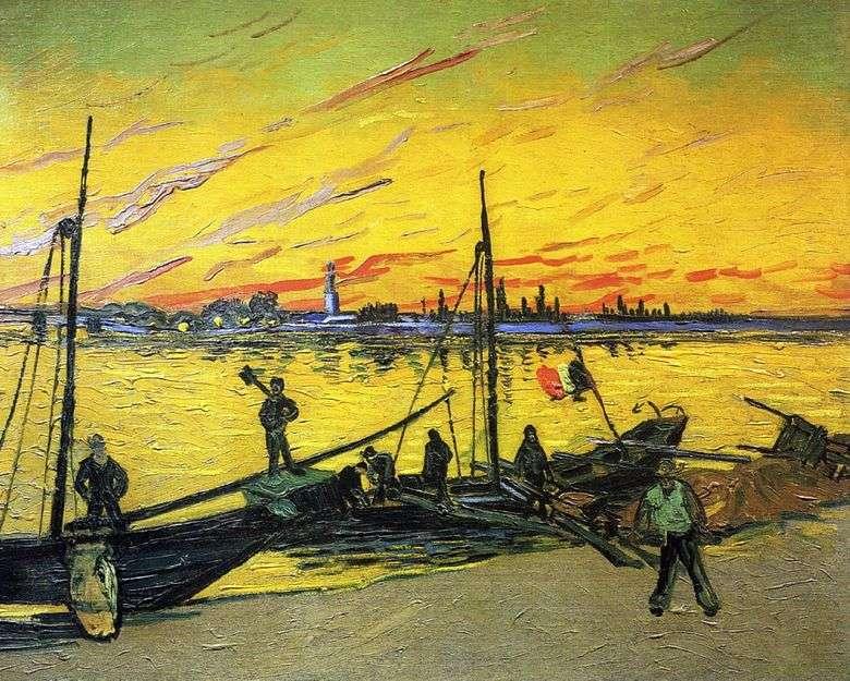 Описание картины Винсента Виллема ван Гога «Угольные баржи»