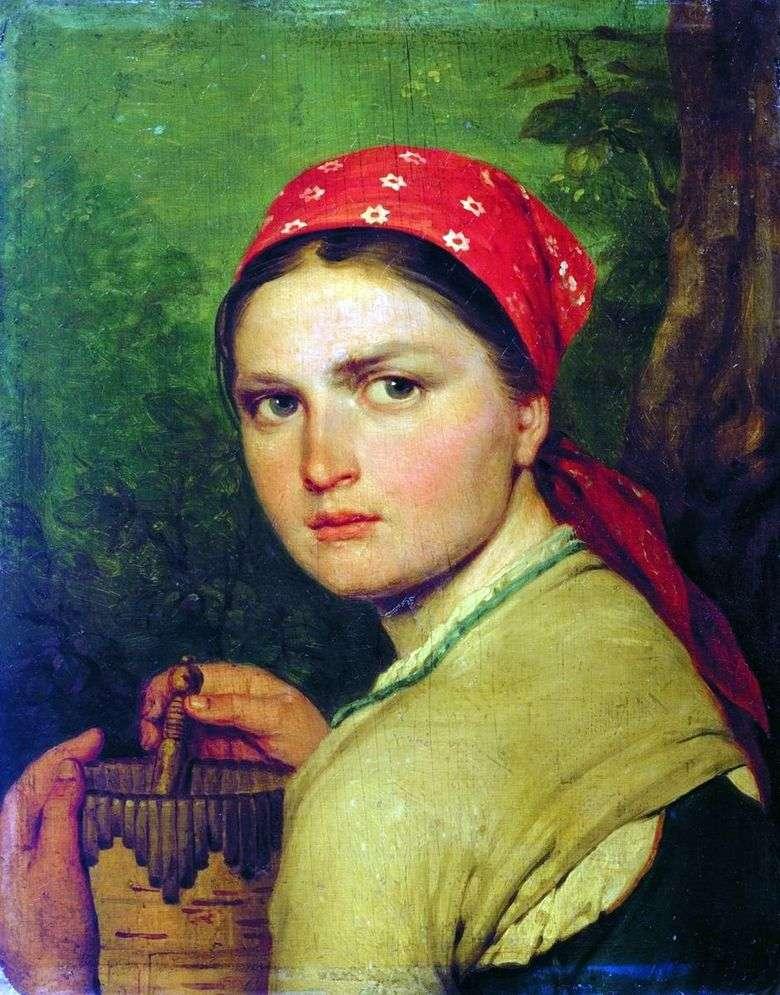 Описание картины Алексея Венецианова «Девушка с бураком»