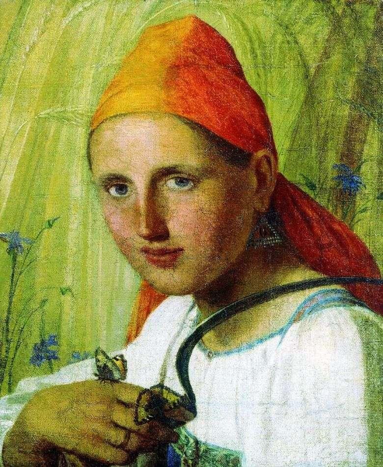 Описание картины Алексея Венецианова «Крестьянка с бабочками»&nbsp