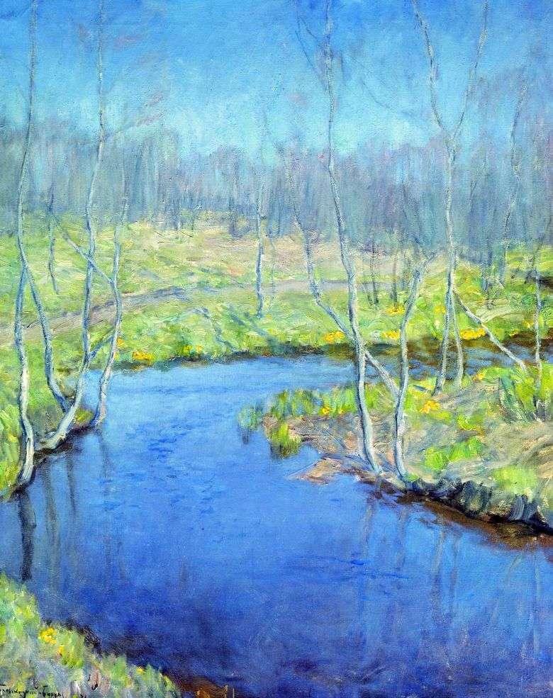 Описание картины Витольда Бялыницкого Бирули «Весна»