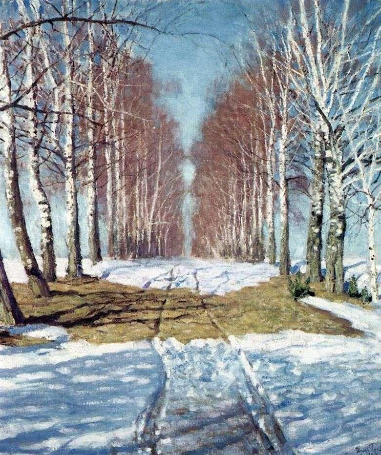Описание картины Игоря Грабаря «Березовая аллея»