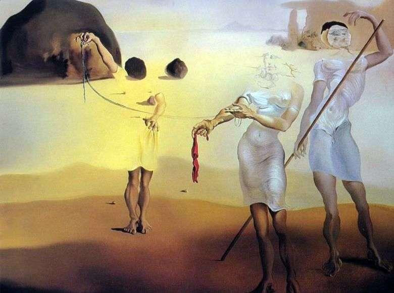 Описание картины Сальвадора Дали «Очарованный берег с тремя жидкими грациями»