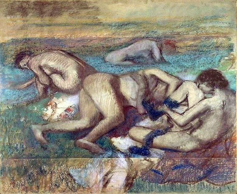 Описание картины Эдгара Дега «Купальщицы»