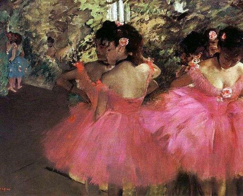 Описание картины Эдгара Дега «Танцовщицы в розовом»