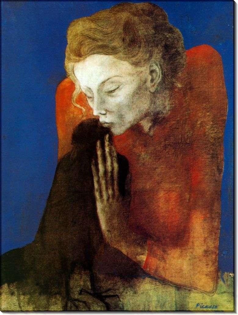Описание картины Пабло Пикассо «Женщина с вороной»