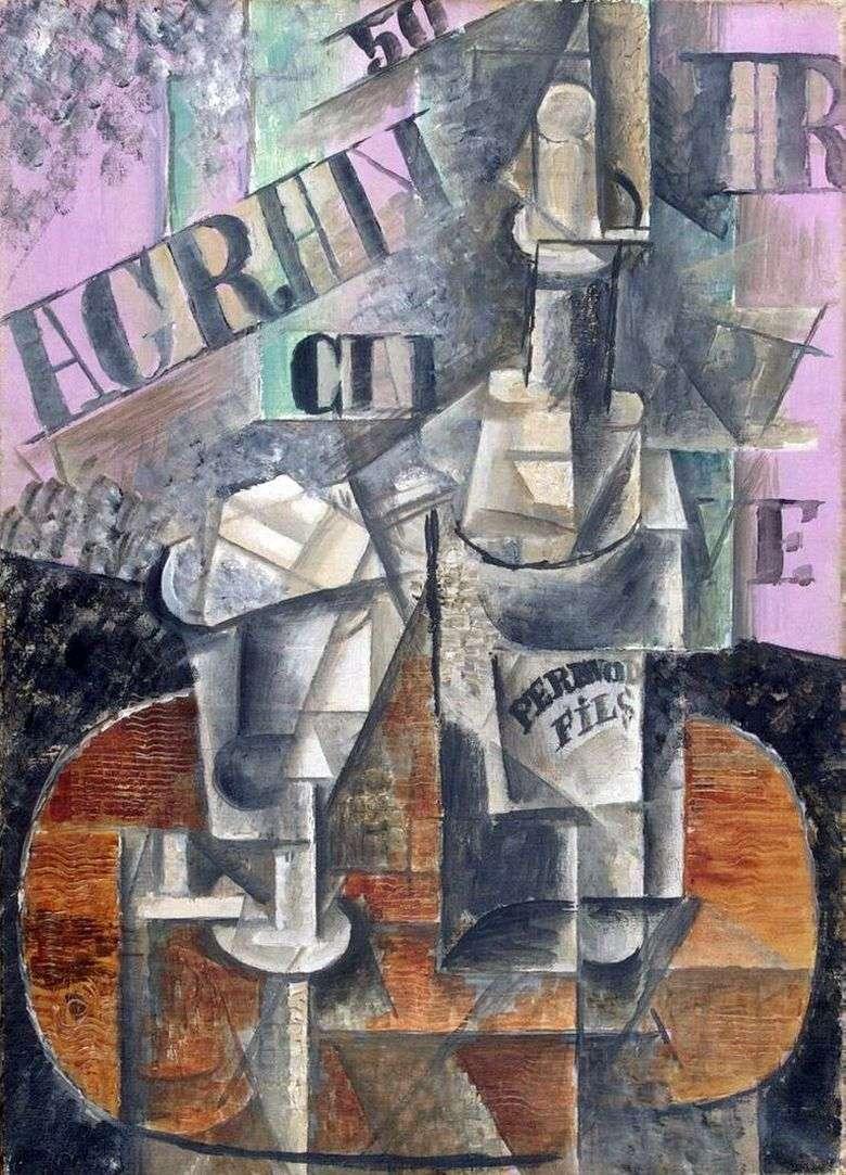 Описание картины Пабло Пикассо «Столик в кафе»