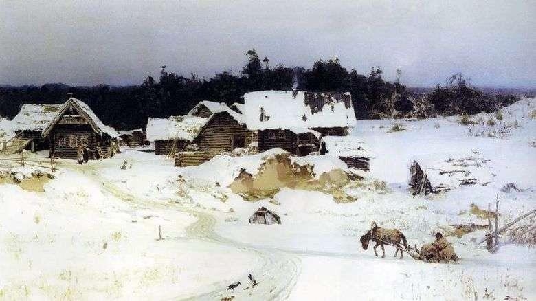 Описание картины Василия Поленова «Зима»