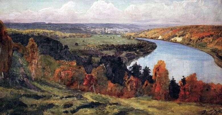 Описание картины Василия Поленова «Долина Оки»