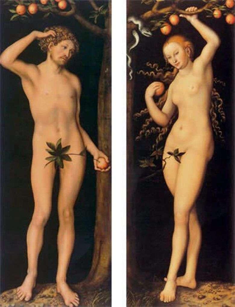 Описание картины Лукаса Кранаха Старшего «Адам и Ева»