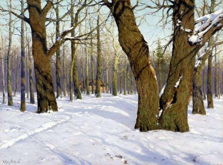 Описание картины Константина Крыжицкого «Повеяло весной» (1910)