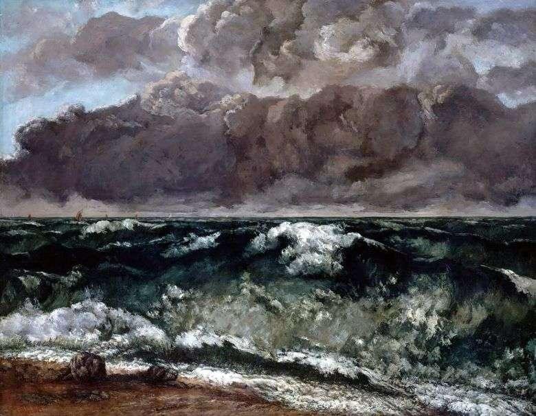 Описание картины Гюстава Курбе «Волна» (1870)