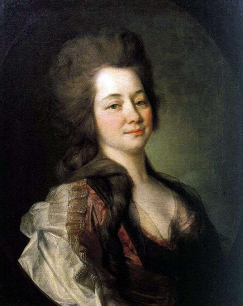 Описание картины Дмитрия Левицкого «Портрет М. А. Львовой» (1781)