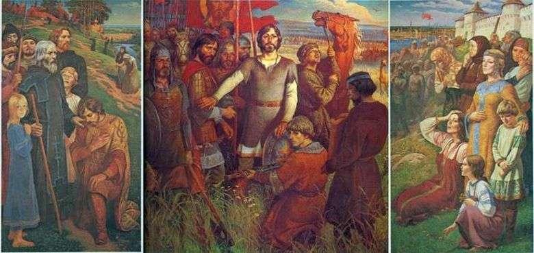 Описание картины Юрия Ракши «Поле Куликово»