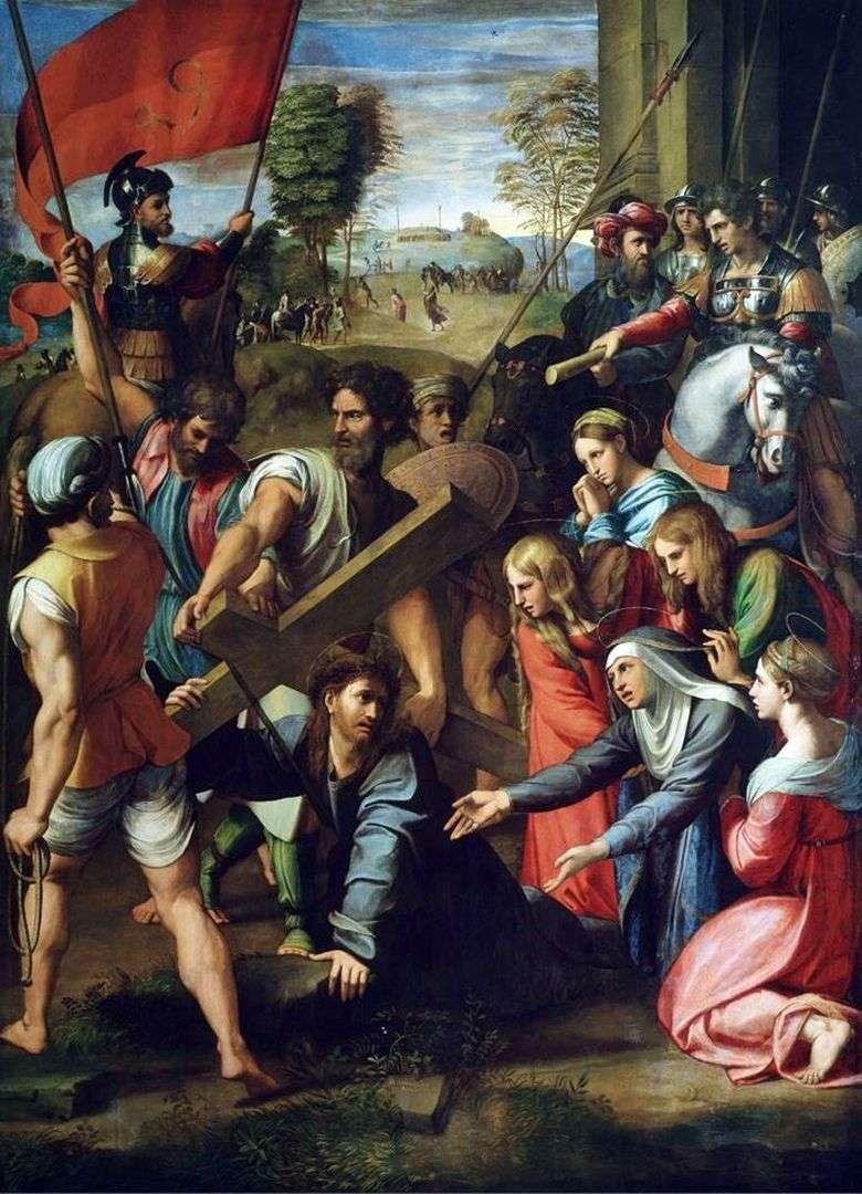 Описание картины Рафаэля Санти «Несение Креста»