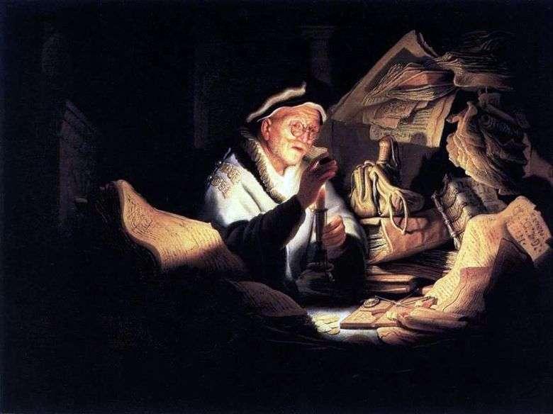 Описание картины Рембранта Харменса ван Рейна «Притча о богаче»