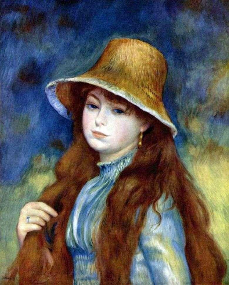 Описание картины Пьера Огюста Ренуара «Девушка в соломенной шляпе»