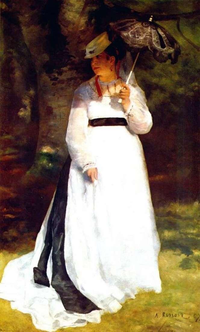 Описание картины Пьера Огюста Ренуара «Лиза с зонтиком»