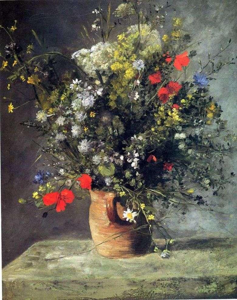 Описание картины Пьера Огюста Ренуара «Цветы в вазе»