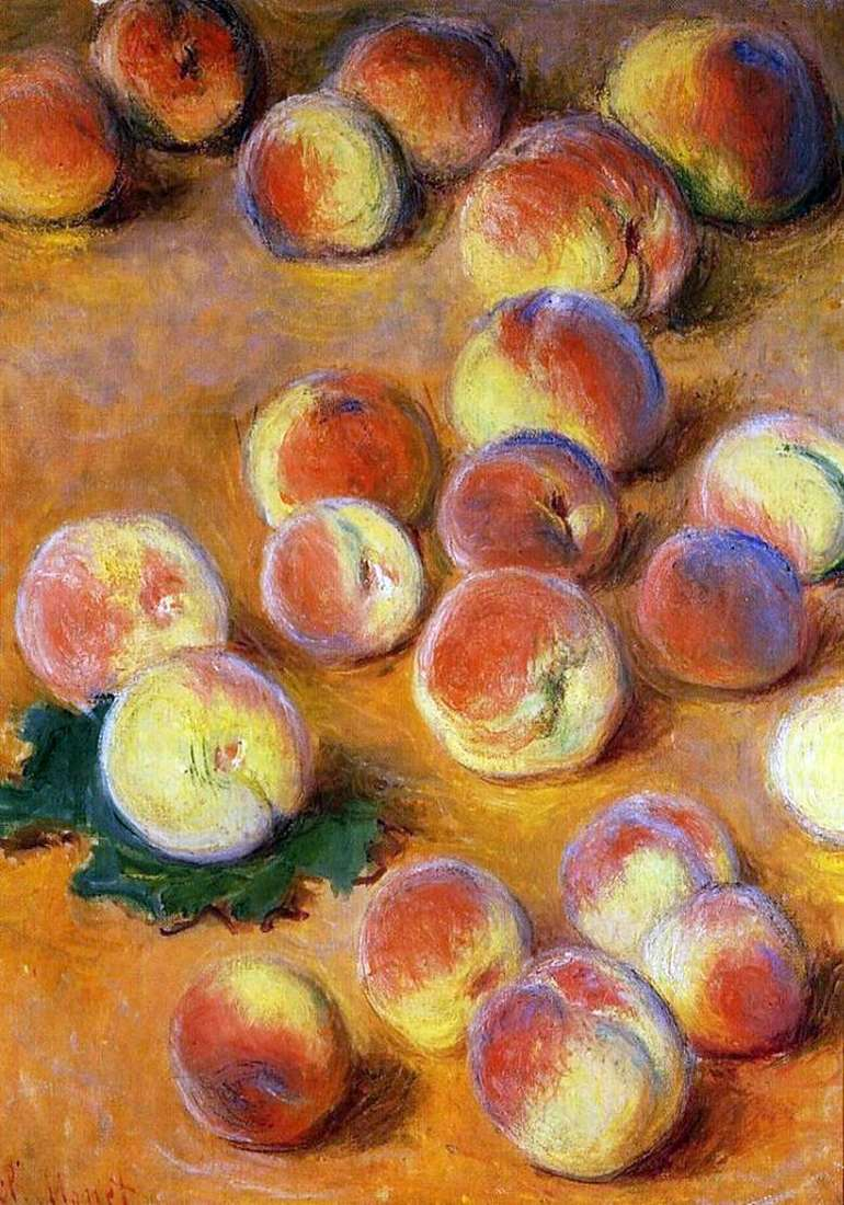 Описание картины Клода Моне «Персики»