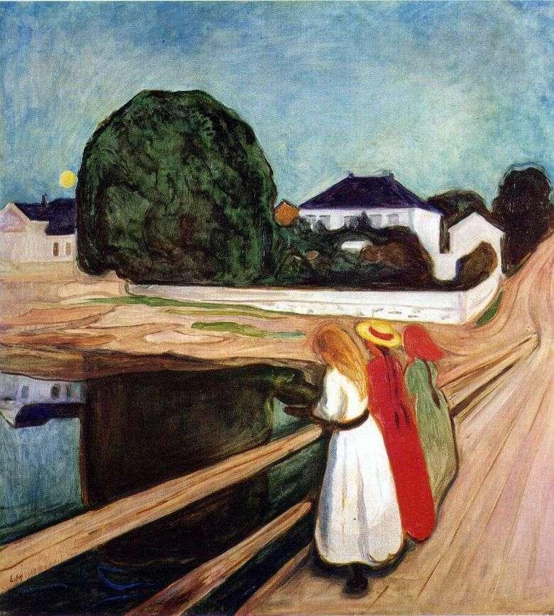 Описание картины Эдварда Мунка «Девушки на мосту»