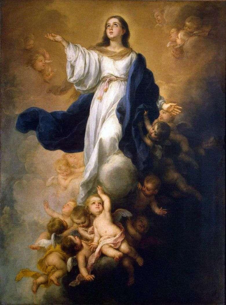 Описание картины Бартоломе Эстебана Мурильо «Вознесение девы Марии»