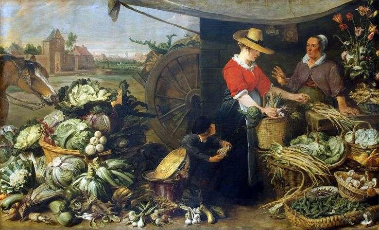 Описание картины Франса Снейдерса «Овощная лавка»