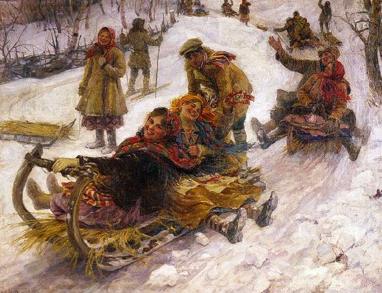 Описание картины Федота Сычкова «Катание с гор»