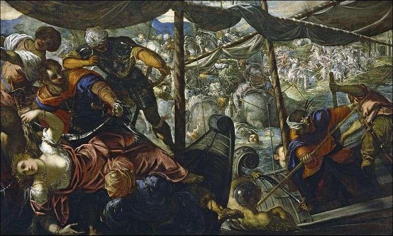 Описание картины Тинторетто «Похищение Елены»