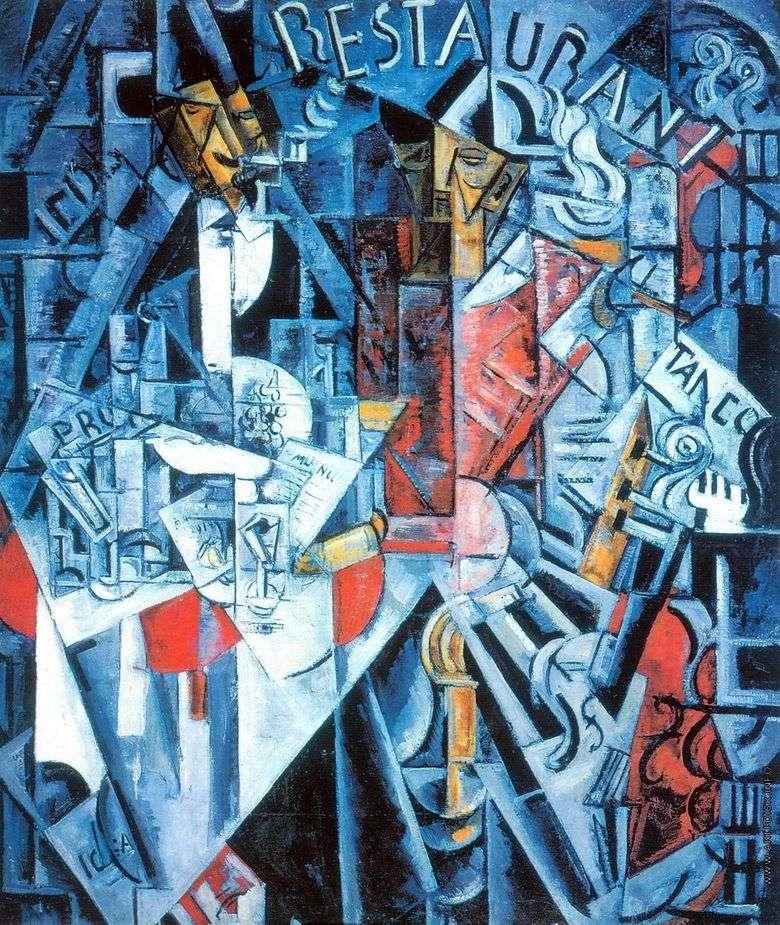 Описание картины Надежды Удальцовой «Ресторан»