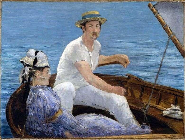 Описание картины Эдуарда Мане «В лодке»