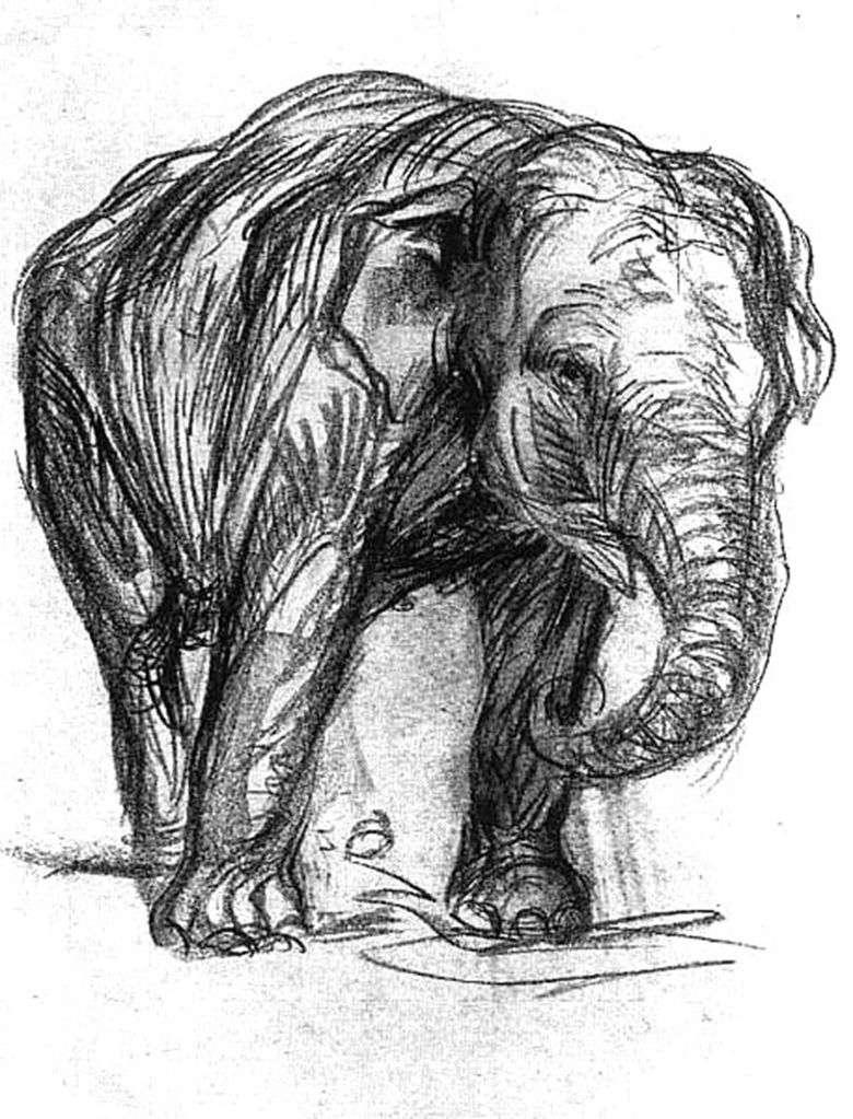 Описание Франца Марка «Слон»