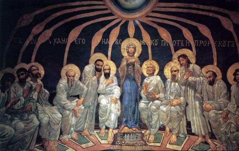 Описание картины Михаила Врубеля «Сошествие святого духа»