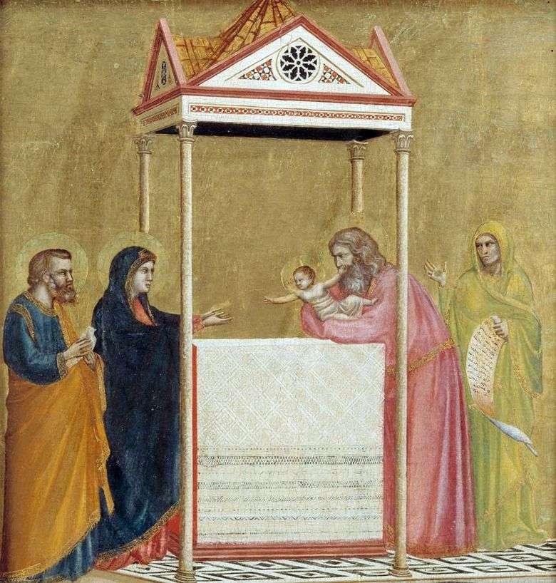 Описание картины Джотто ди Бондоне «Сретение Господне» (1320 1325гг.)