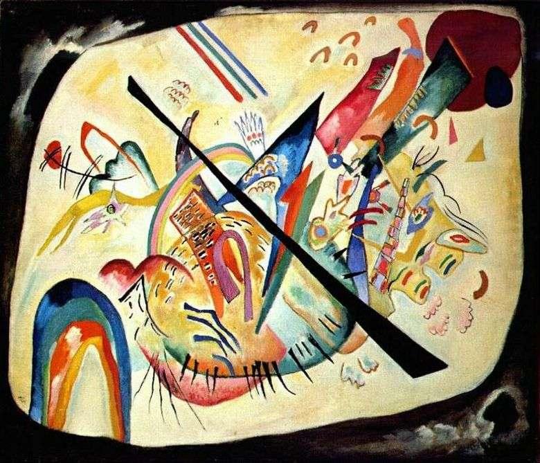 Описание картины Василия Кандинского «Белый овал» (1919год)