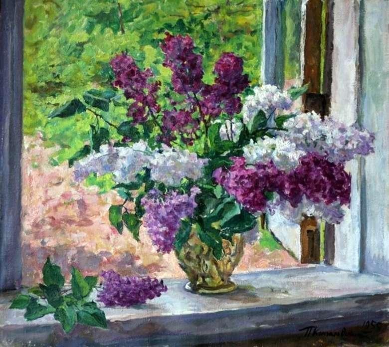 Описание картины Петра Кончаловского «Сирень у окна» (1955)