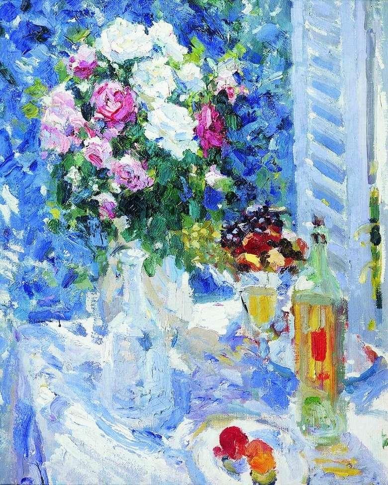 Описание картины Константина Коровина «Цветы и фрукты» (1911)