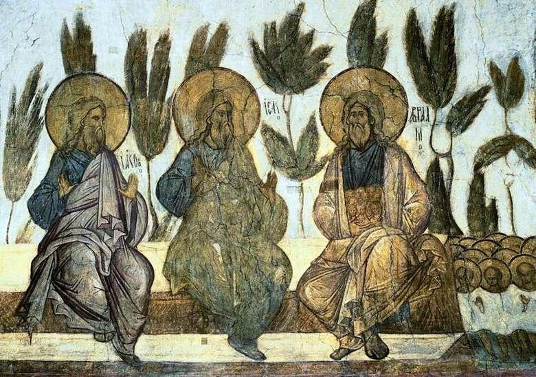 Описание фрески Черного Даниила «Лоно Авраамово»