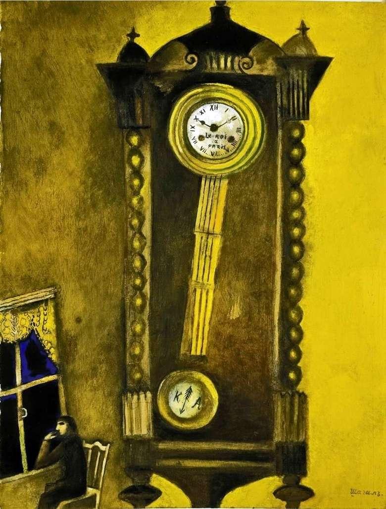 Описание картины Марка Захаровича Шагала «Часы»