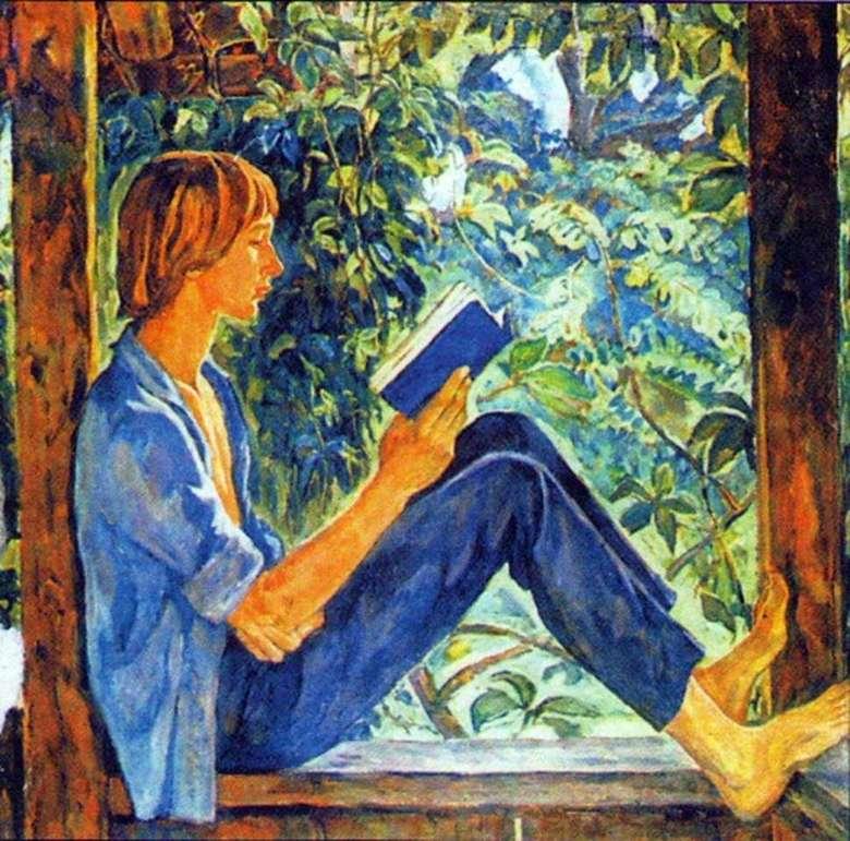 Описание картины Ирины Шевандроновой «На террасе»