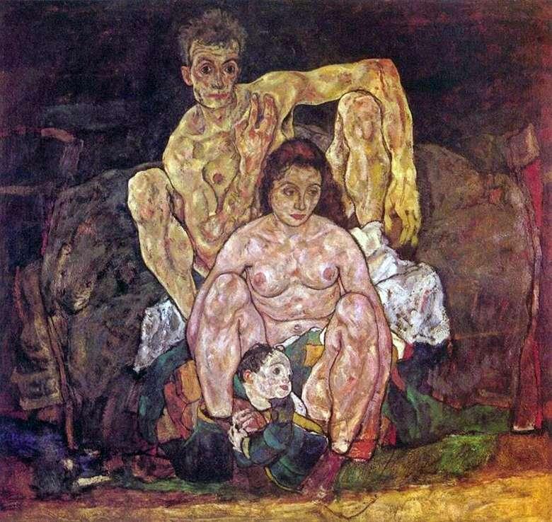 Описание картины Эгона Шиле «Семья»