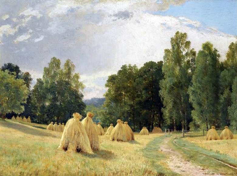 Описание картины Ивана Шишкина «Стога сена. Преображенское»