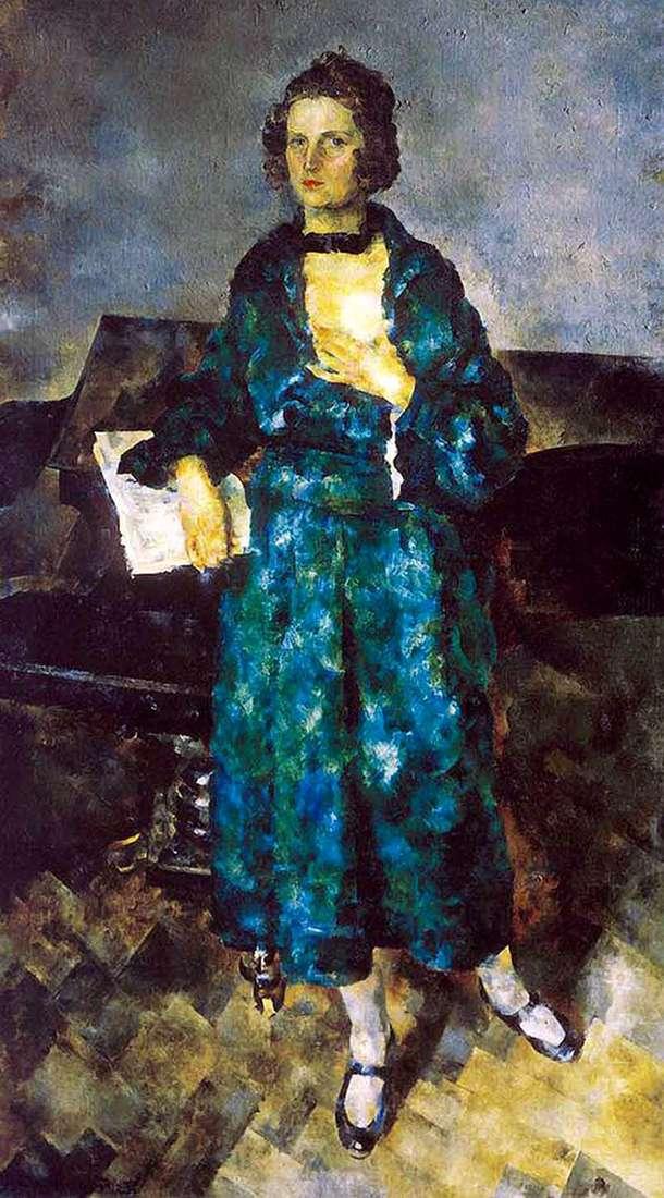 Описание картины Василия Рождественского «Портрет жены художника»