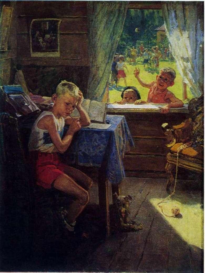 Описание картины Федора Решетникова «Переэкзаменовка»