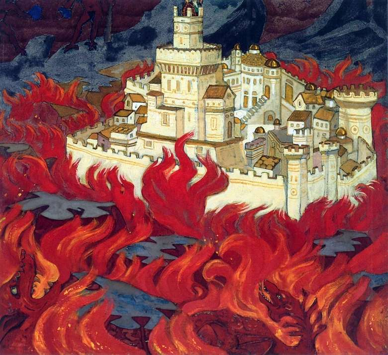 Описание картины Николая Рериха «Пречистый Град – врагам озлобление»