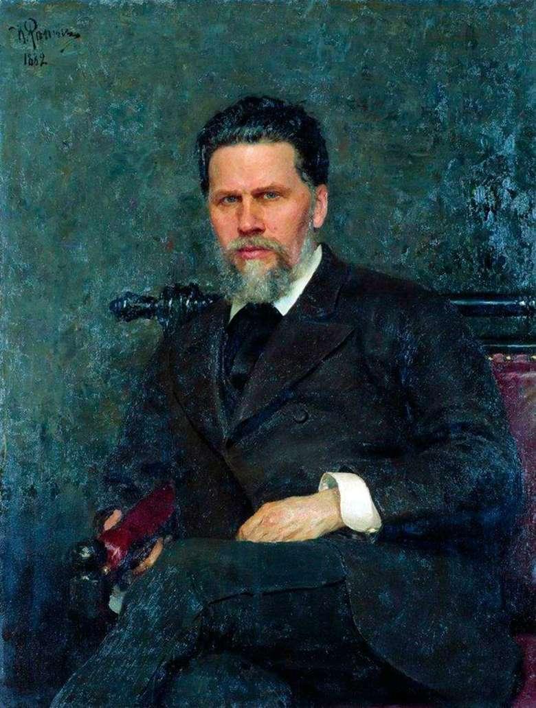 Описание картины Ильи Репина «Портрет И. Н. Крамского»
