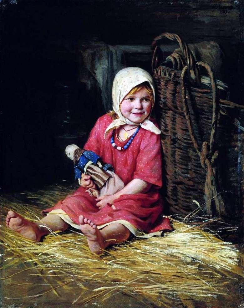 Описание картины Карла Лемоха «Варька»