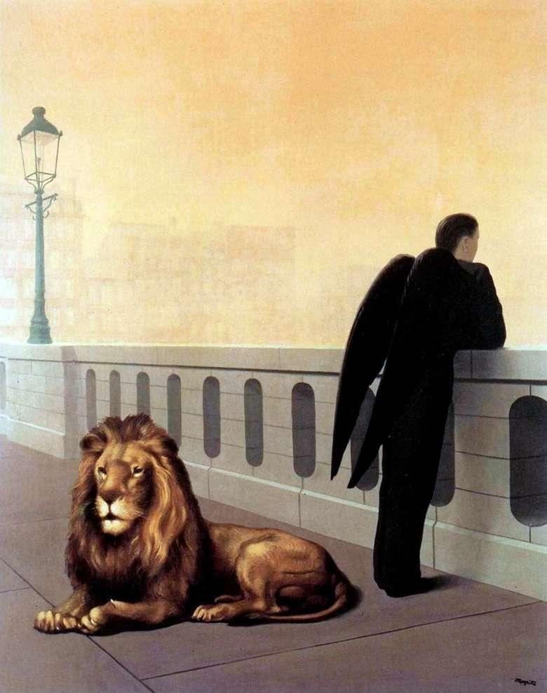 Описание картины Рене Магритт «Ностальгия»